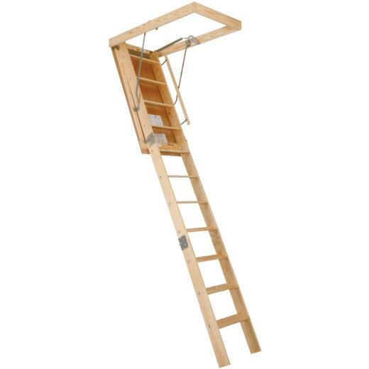 Louisville Champion 8 Ft. 9 In. to 10 Ft. 25-1/2 In. x 54 In. Wood Attic Stairs, 300 Lb. Load