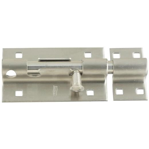 National 5 In. Stainless Steel Door Barrel Bolt