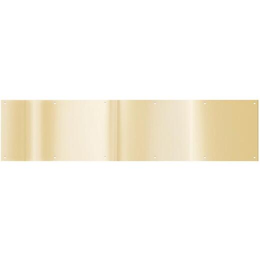 National 8 In. x 34 In. Brass Aluminum Kickplate