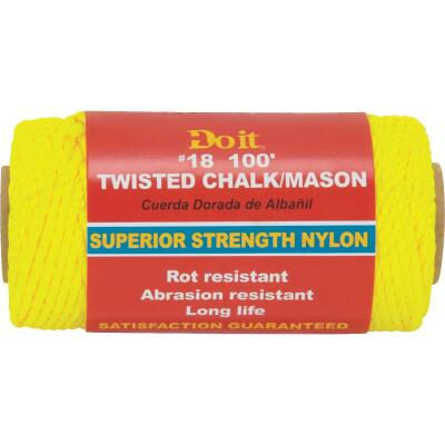 Do it 100 Ft. Fluorescent Yellow Twisted Nylon Mason Line
