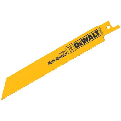 DeWalt 6 In. 10 TPI Multi-Material Reciprocating Saw Blade (5-Pack)