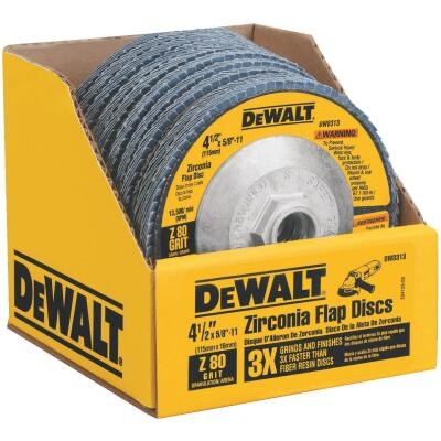DeWalt 4-1/2 In. 80-Grit Type 29 High Performance Zirconia Angle Grinder Flap Disc