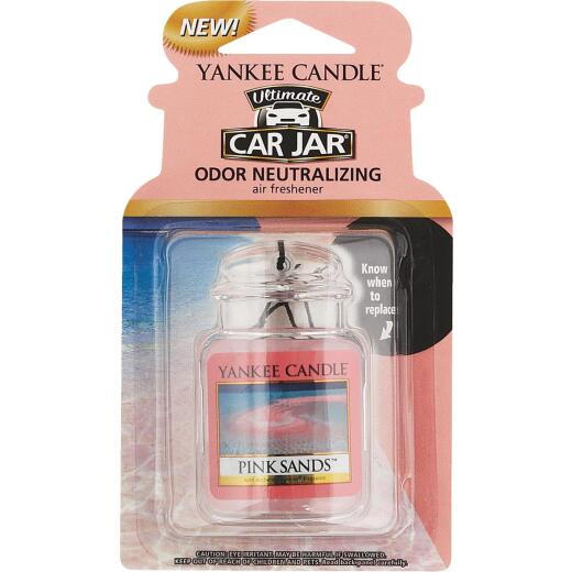 Yankee Candle Car Jar Ultimate Car Air Freshener, Pink Sands