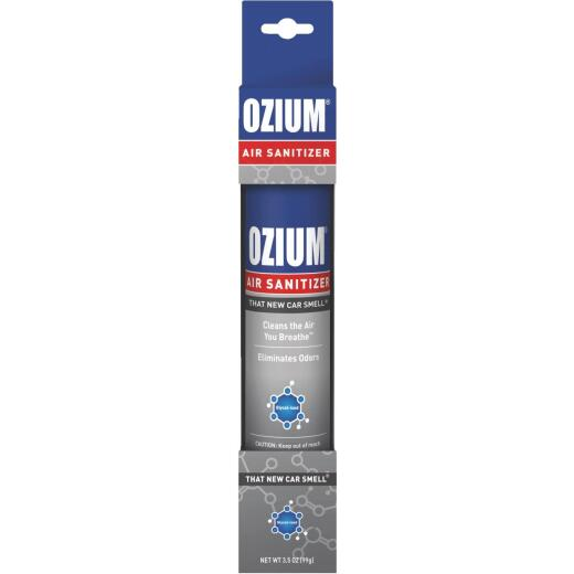 Ozium 3.5 Oz. Car Air Freshener/Sanitizer Spray, New Car Scent