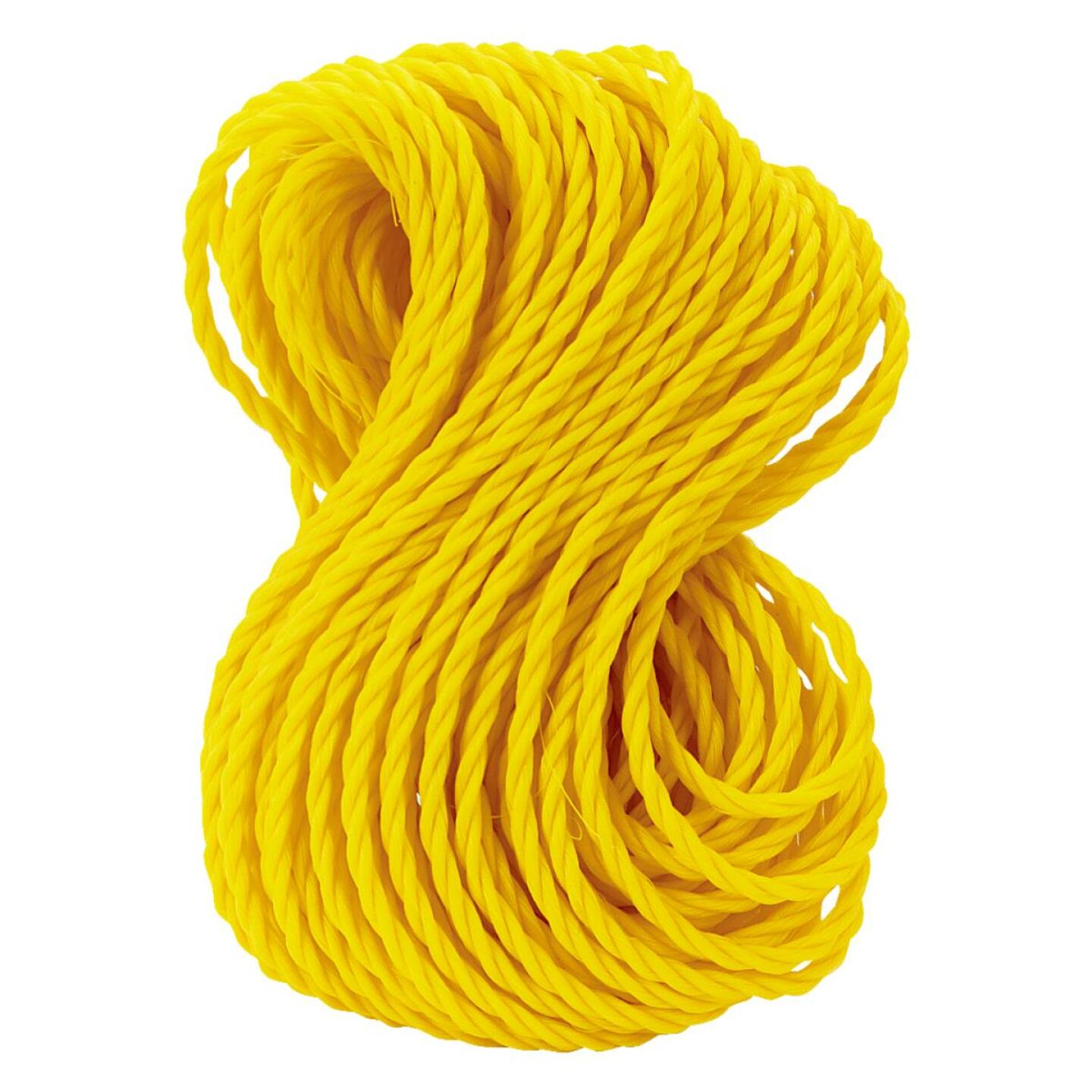 Do it 1/4 In. x 100 Ft. Yellow Twisted Polypropylene Packaged Rope Image 2