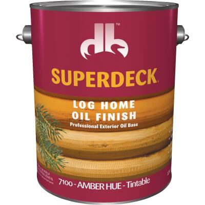 Duckback SUPERDECK Translucent Log Home Oil Finish, Amber Hue, 1 Gal.