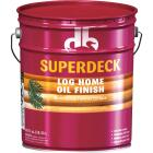 Duckback SUPERDECK Translucent Log Home Oil Finish, Autumn Brown, 5 Gal. Image 1
