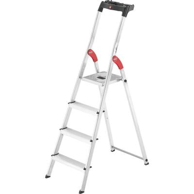 Hailo L60 5 Ft. Aluminum Step Ladder with 330 Lb. Load Capacity